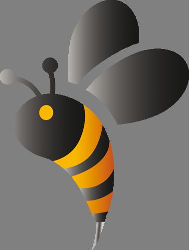 Наклейка «Пчела в профиль»Насекомые<br><br>