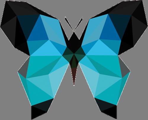 Наклейка «Чёрно-голубая бабочка»Насекомые<br><br>