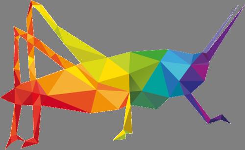 Наклейка «Разноцветный богомол»Насекомые<br><br>