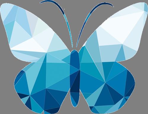Наклейка «Кристальная бабочка»Насекомые<br>Цветная интерьерная наклейка на виниле. Яркая и красивая! Можно сделать любой размер. Трехслойная надежная упаковка. Доставим в любую точку России.<br>