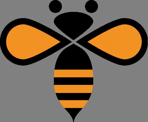 Наклейка «Пчела в абстракции»Насекомые<br><br>