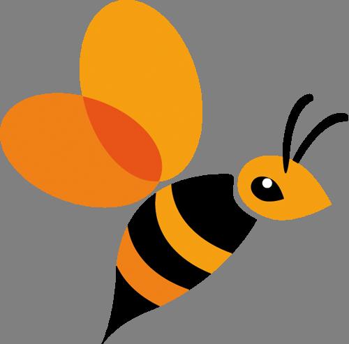 Наклейка «Летящая пчёлка»Насекомые<br><br>