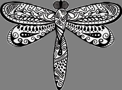 Наклейка «Стрекоза-орнамент»Насекомые<br><br>