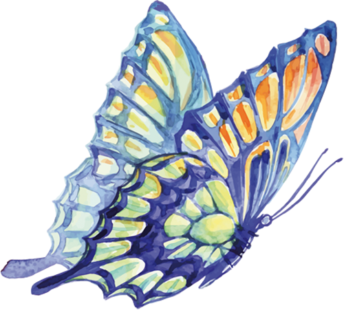 Наклейка «Летящая бабочка»Насекомые<br><br>