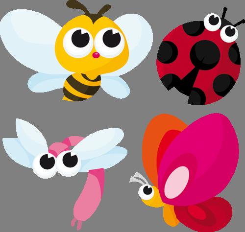 Наклейка «Четвёрка насекомых»Насекомые<br><br>