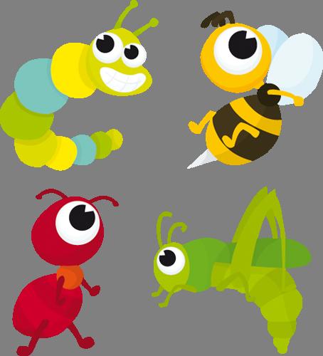 Наклейка «Четверо насекомых»Насекомые<br><br>
