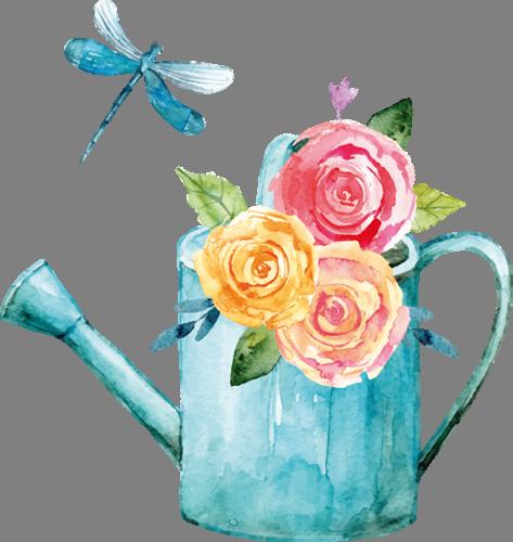 Наклейка «Лейка с цветами»Насекомые<br><br>
