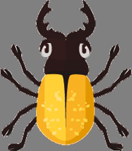Наклейка «Жёлтый жук»Насекомые<br><br>