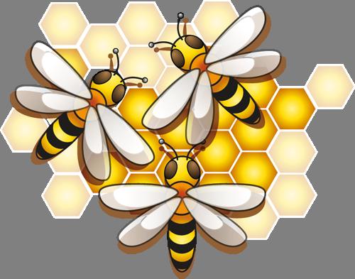 Наклейка «Три пчелы и мёд»Насекомые<br><br>