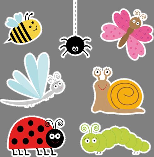 Наклейка «Семь насекомых»Насекомые<br><br>