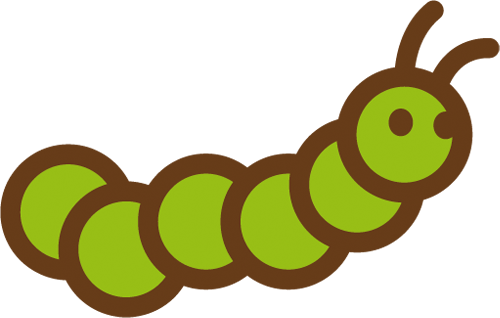 Наклейка «Ползущая гусеница»Насекомые<br><br>