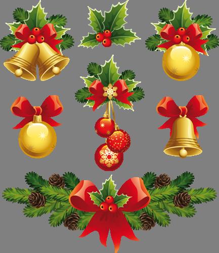 Наклейка «Ёлочные шарики и колокольчики»Новогодние<br><br>