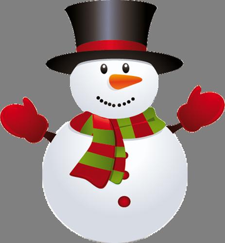 Наклейка «Добродушный снеговик»Новогодние<br><br>