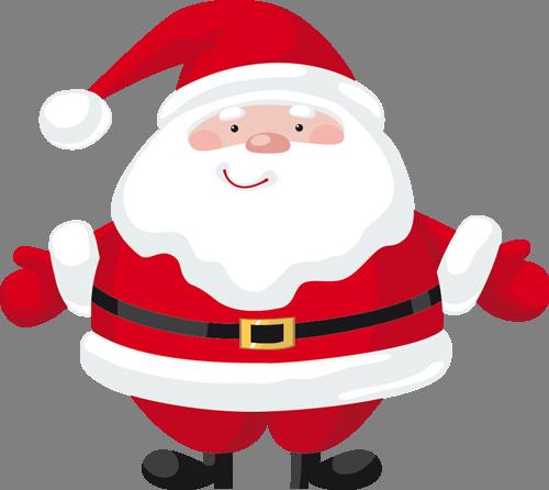 Наклейка «Добродушный Санта»Новогодние<br><br>