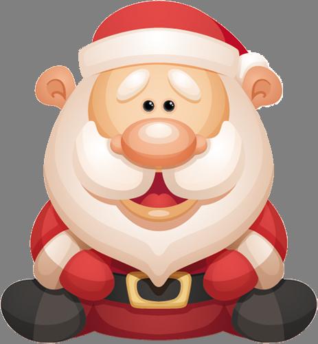 Наклейка «Весёлый Санта»Новогодние<br>Цветная интерьерная наклейка на виниле. Яркая и красивая! Можно сделать любой размер. Трехслойная надежная упаковка. Доставим в любую точку России.<br>