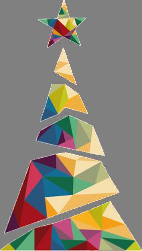 Наклейка «Кристальная ёлка»Новогодние<br>Цветная интерьерная наклейка на виниле. Яркая и красивая! Можно сделать любой размер. Трехслойная надежная упаковка. Доставим в любую точку России.<br>