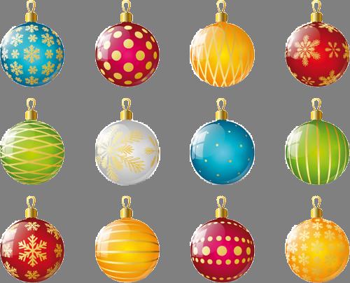 Наклейка «Двенадцать ёлочных шариков»Новогодние<br>Цветная интерьерная наклейка на виниле. Яркая и красивая! Можно сделать любой размер. Трехслойная надежная упаковка. Доставим в любую точку России.<br>