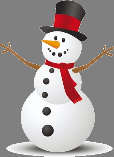 Наклейка «Снеговик»Новогодние<br>Цветная интерьерная наклейка на виниле. Яркая и красивая! Можно сделать любой размер. Трехслойная надежная упаковка. Доставим в любую точку России.<br>