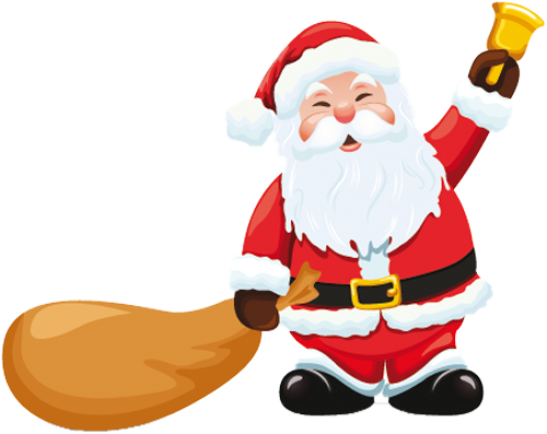 Наклейка «Санта-Клаус с подарками»Новогодние<br>Цветная интерьерная наклейка на виниле. Яркая и красивая! Можно сделать любой размер. Трехслойная надежная упаковка. Доставим в любую точку России.<br>