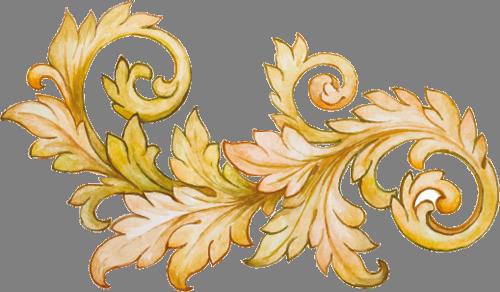 Наклейка «Золотые листья»Орнаменты<br><br>