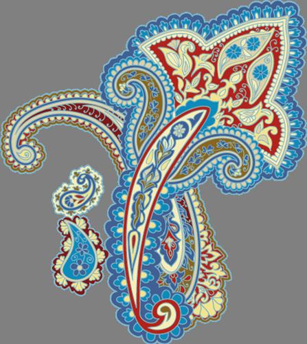Наклейка «Цветок-орнамент»