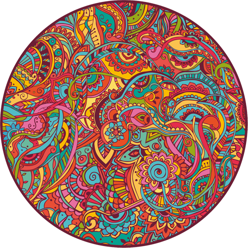 Наклейка «Разноцветный орнамент»Орнаменты<br>Цветная интерьерная наклейка на виниле. Яркая и красивая! Можно сделать любой размер. Трехслойная надежная упаковка. Доставим в любую точку России.<br>