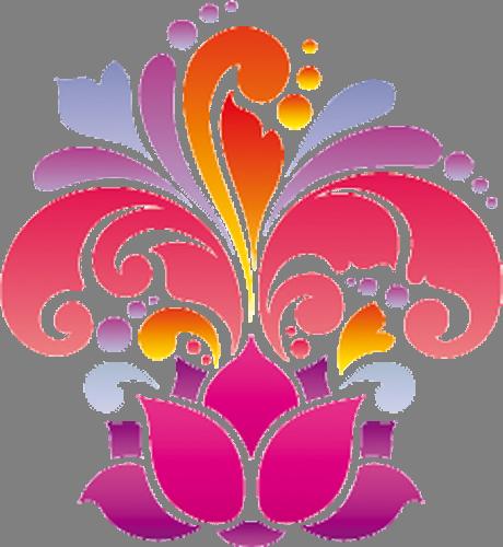 Наклейка «Распустившийся цветок»Орнаменты<br><br>