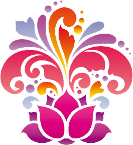 Наклейка «Распустившийся цветок»