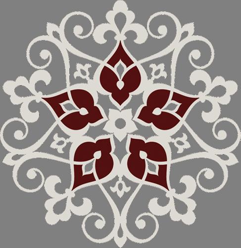 Наклейка «Серый орнамент»