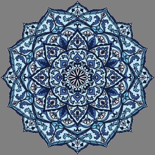 Наклейка «Голубой орнамент»Орнаменты<br>Цветная интерьерная наклейка на виниле. Яркая и красивая! Можно сделать любой размер. Трехслойная надежная упаковка. Доставим в любую точку России.<br>