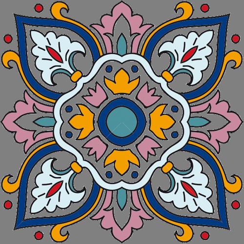 Наклейка «Орнамент-крест»