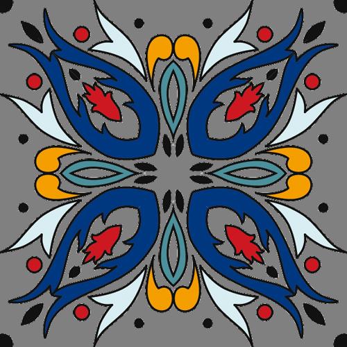 Наклейка «Орнамент -ыбки»