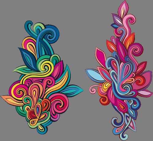 Наклейка «Два разноцветных орнамента»Орнаменты<br><br>