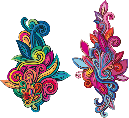 Наклейка «Два разноцветных орнамента»
