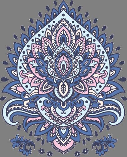 Наклейка «Орнамент-божество»Орнаменты<br>Цветная интерьерная наклейка на виниле. Яркая и красивая! Можно сделать любой размер. Трехслойная надежная упаковка. Доставим в любую точку России.<br>