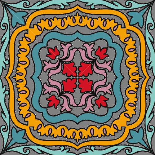 Наклейка «Орнамент-ковёр»Орнаменты<br>Цветная интерьерная наклейка на виниле. Яркая и красивая! Можно сделать любой размер. Трехслойная надежная упаковка. Доставим в любую точку России.<br>