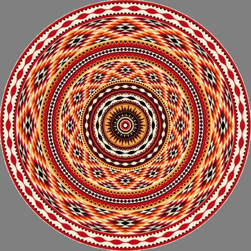 Наклейка «Гипнотический орнамент»Орнаменты<br>Цветная интерьерная наклейка на виниле. Яркая и красивая! Можно сделать любой размер. Трехслойная надежная упаковка. Доставим в любую точку России.<br>