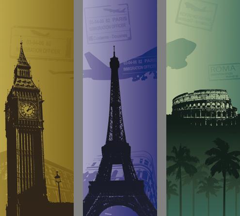Наклейка «Три столицы»Путешествия<br><br>