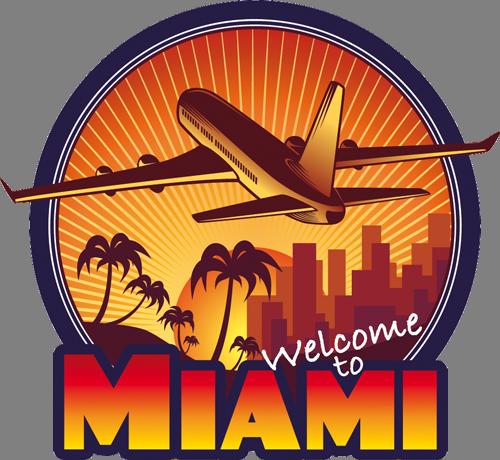 Наклейка»Майами»Путешествия<br>Цветная интерьерная наклейка на виниле. Яркая и красивая! Можно сделать любой размер. Трехслойная надежная упаковка. Доставим в любую точку России.<br>