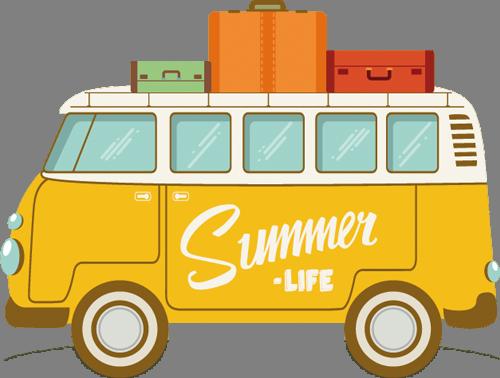 Наклейка «Летняя жизнь»Путешествия<br><br>