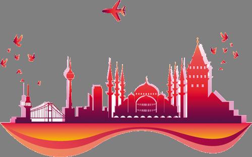 Наклейка «Стамбул»Путешествия<br>Цветная интерьерная наклейка на виниле. Яркая и красивая! Можно сделать любой размер. Трехслойная надежная упаковка. Доставим в любую точку России.<br>