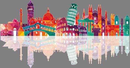 Наклейка «Символы Европы»Путешествия<br><br>
