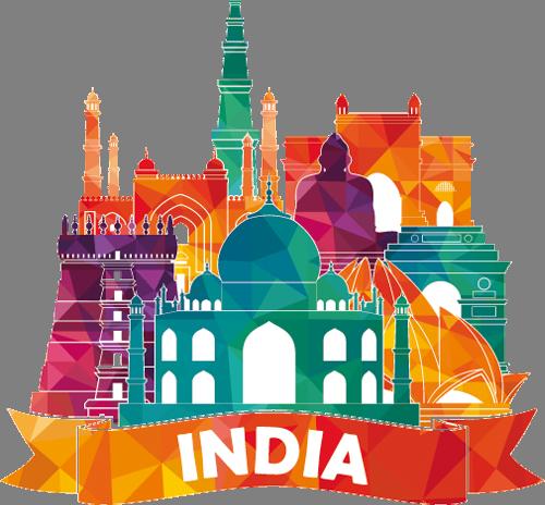 Наклейка «Индия»Путешествия<br>Цветная интерьерная наклейка на виниле. Яркая и красивая! Можно сделать любой размер. Трехслойная надежная упаковка. Доставим в любую точку России.<br>