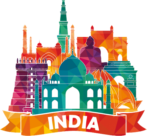 Наклейка «Индия»Путешествия<br><br>