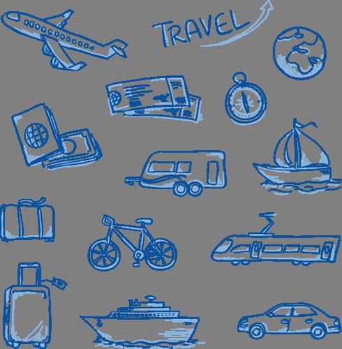 Наклейка «В путешествии»Путешествия<br><br>