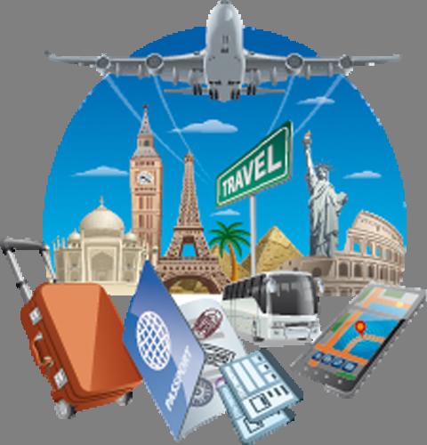 Наклейка «Набор путешественника»