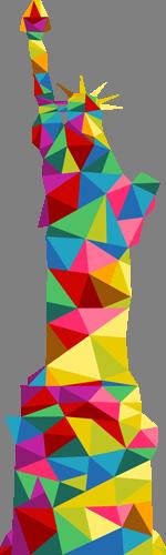 Наклейка «Статуя свободы»Путешествия<br>Цветная интерьерная наклейка на виниле. Яркая и красивая! Можно сделать любой размер. Трехслойная надежная упаковка. Доставим в любую точку России.<br>