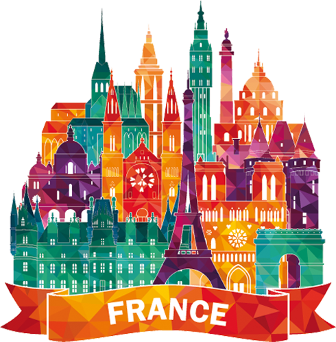 Наклейка «Франция»Путешествия<br><br>