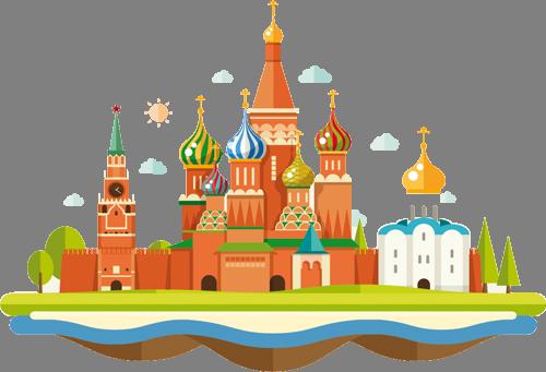 Наклейка «Кремль»Путешествия<br><br>