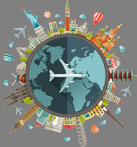 Наклейка «Части света»Путешествия<br><br>